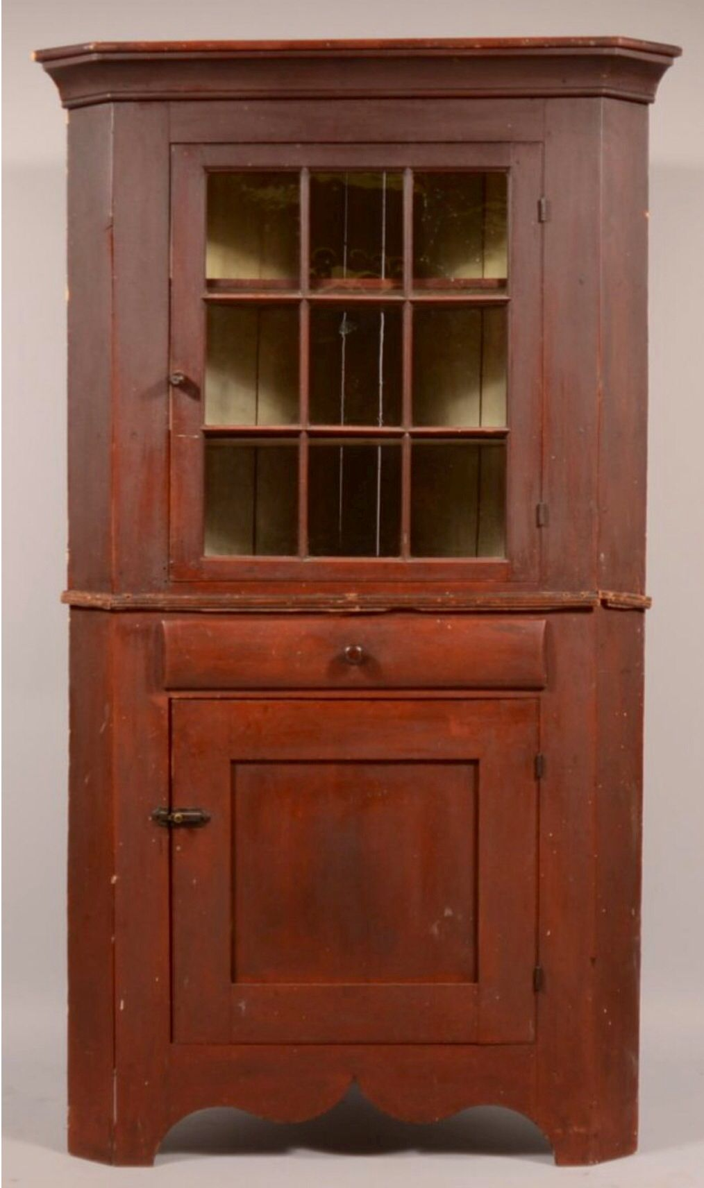 Conestoga Auction Co 6 1 13 Lot 269 Est 1k 2k Sold For 2400 Pennsylvania Country Federal Cherry Antique Cupboard Colonial Furniture Southern Furniture