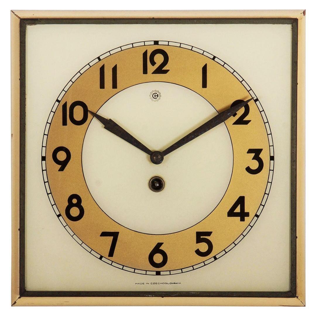 Things That Inspire Us A 1935 Chomutov Kienzle Art Deco Wall Clock 1930s Clock Clocks Vintageclock Wallclock Antique Rare Luxury Coolstuff Madmen