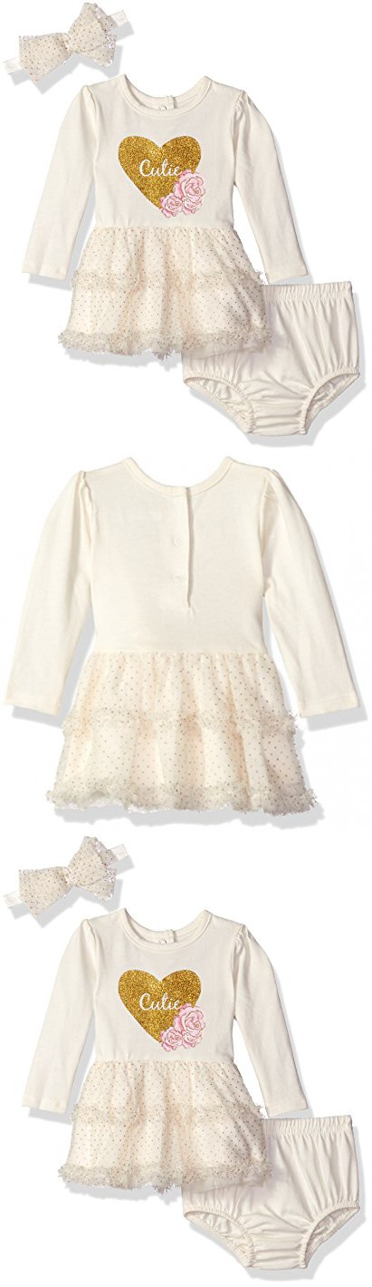 756fcda23 Vitamins Baby Girls  Perfect Picture 3 Piece Sparkle Tulle Dress Set ...