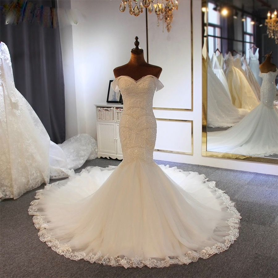 Nelda S Mermaid Chrystal Beading Wedding Dress Size 16 1150 Ivory Bridal Gown Budget Wedding Dress Mermaid Wedding Dress [ 900 x 900 Pixel ]
