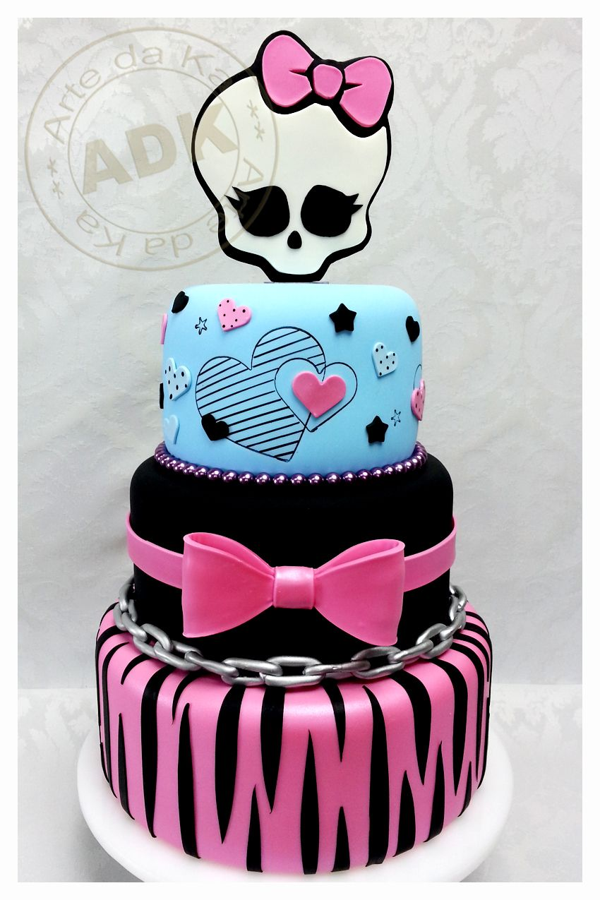 Admirable Monster High Queque Monster High Cakes Monster High Birthday Funny Birthday Cards Online Fluifree Goldxyz