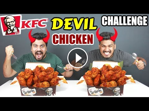Kfc Devil Chicken Challenge Kfc Spicy Chicken Eating Competition