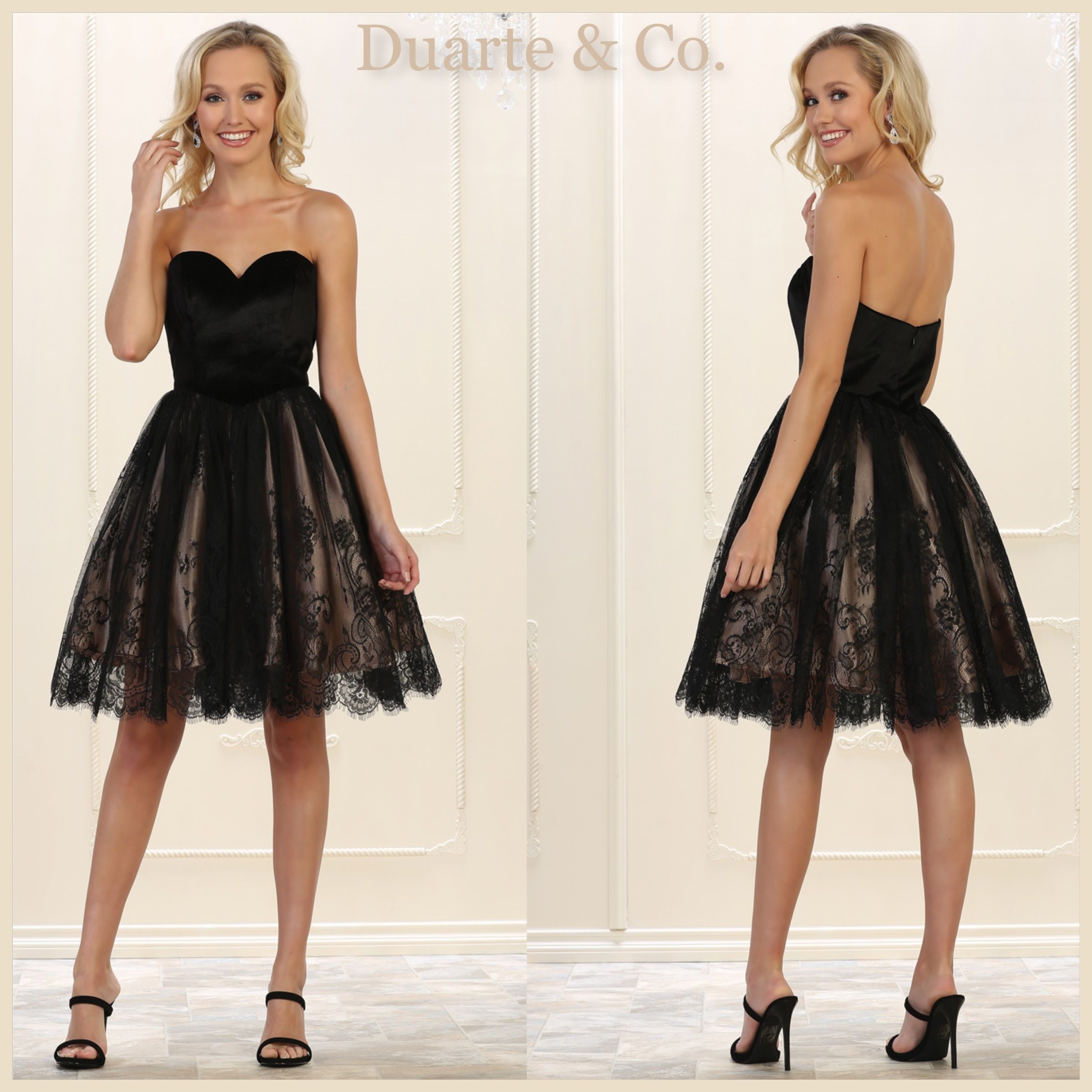 LC215592  120.00 Short Strapless Velvet   Lace Party Dress Comes in 3  colors and is available in sizes 4-16. f7d401b5d745
