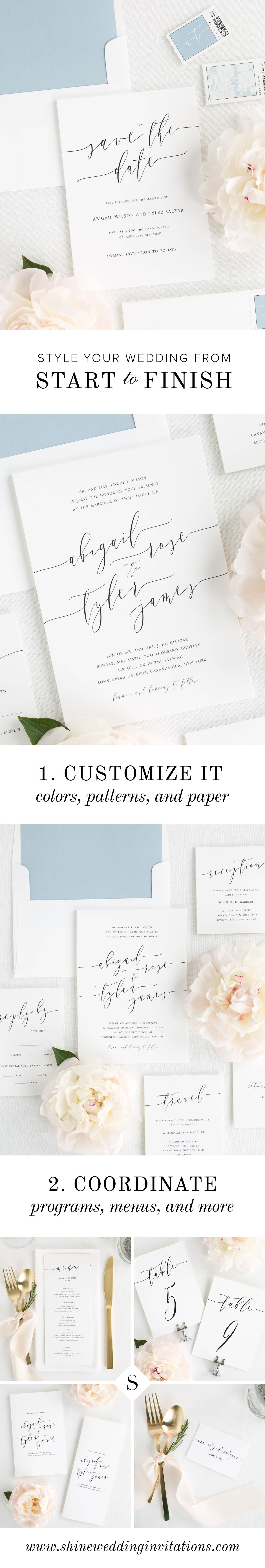Customize in Over 40 Colors, Liners & Choice of Paper | Ink color ...