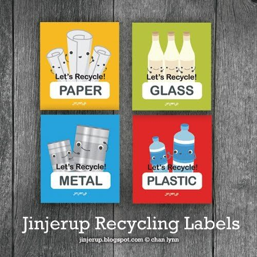 graphic regarding Recycle Labels Printable called Totally free Printable Recycling Labels Clroom Recycling