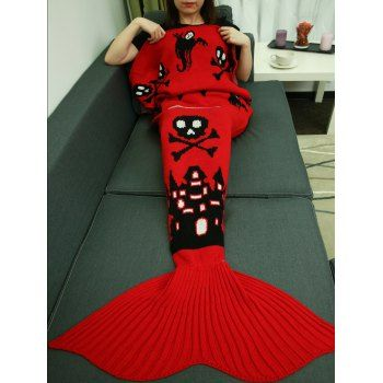 SHARE & Get it FREE | Castle Skull Halloween Crochet Knitting Mermaid Tail Style BlanketFor Fashion Lovers only:80,000+ Items·FREE SHIPPING Join Dresslily: Get YOUR $50 NOW!