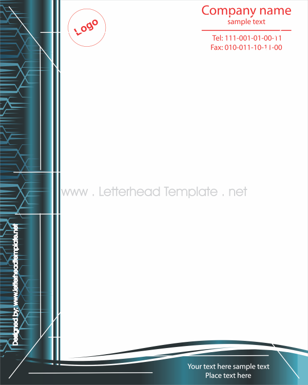 Stylish Letterhead Template  Places To Visit