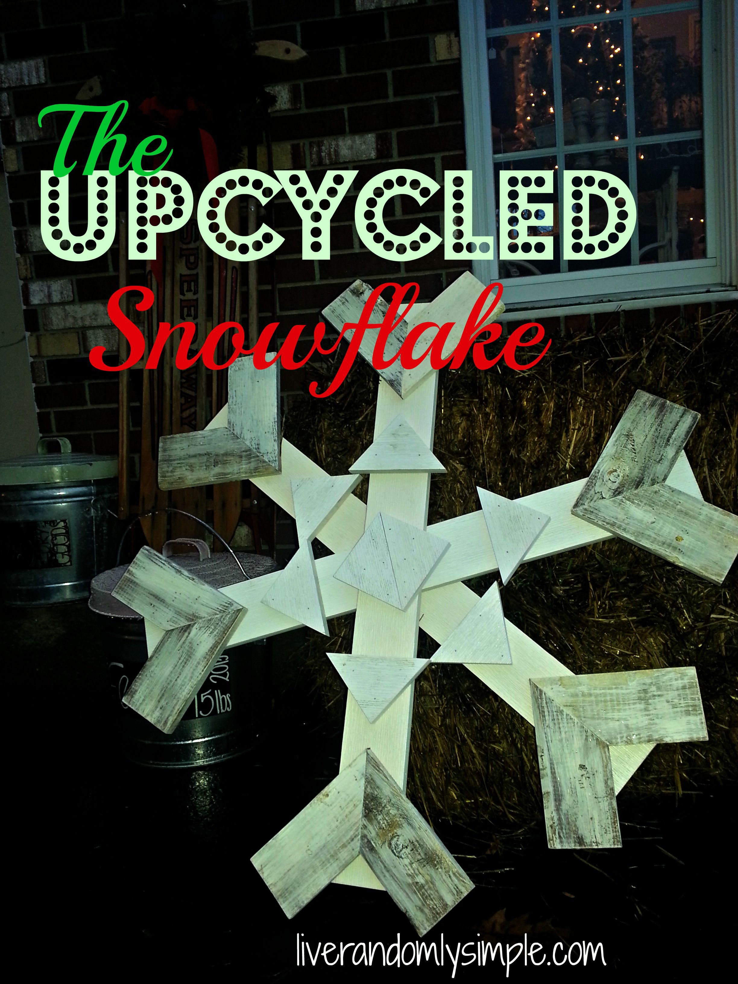 How To Make A Giant Wooden Snowflake Wooden Snowflakes Snowflakes Christmas Decorations