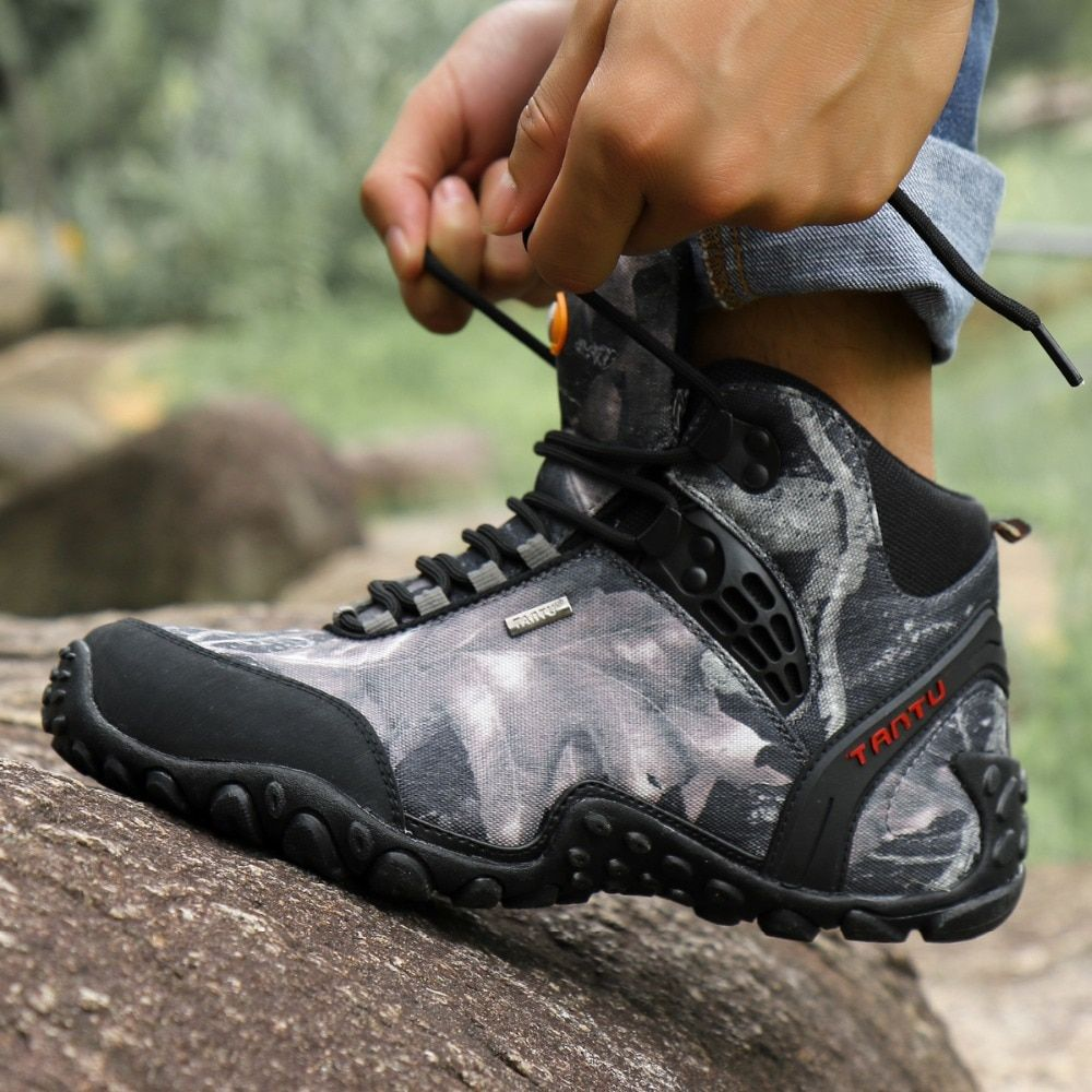 d76c3a5bc50 TANTU Hiking Shoes Waterproof Hiking Boots Men Genuine Leather ...