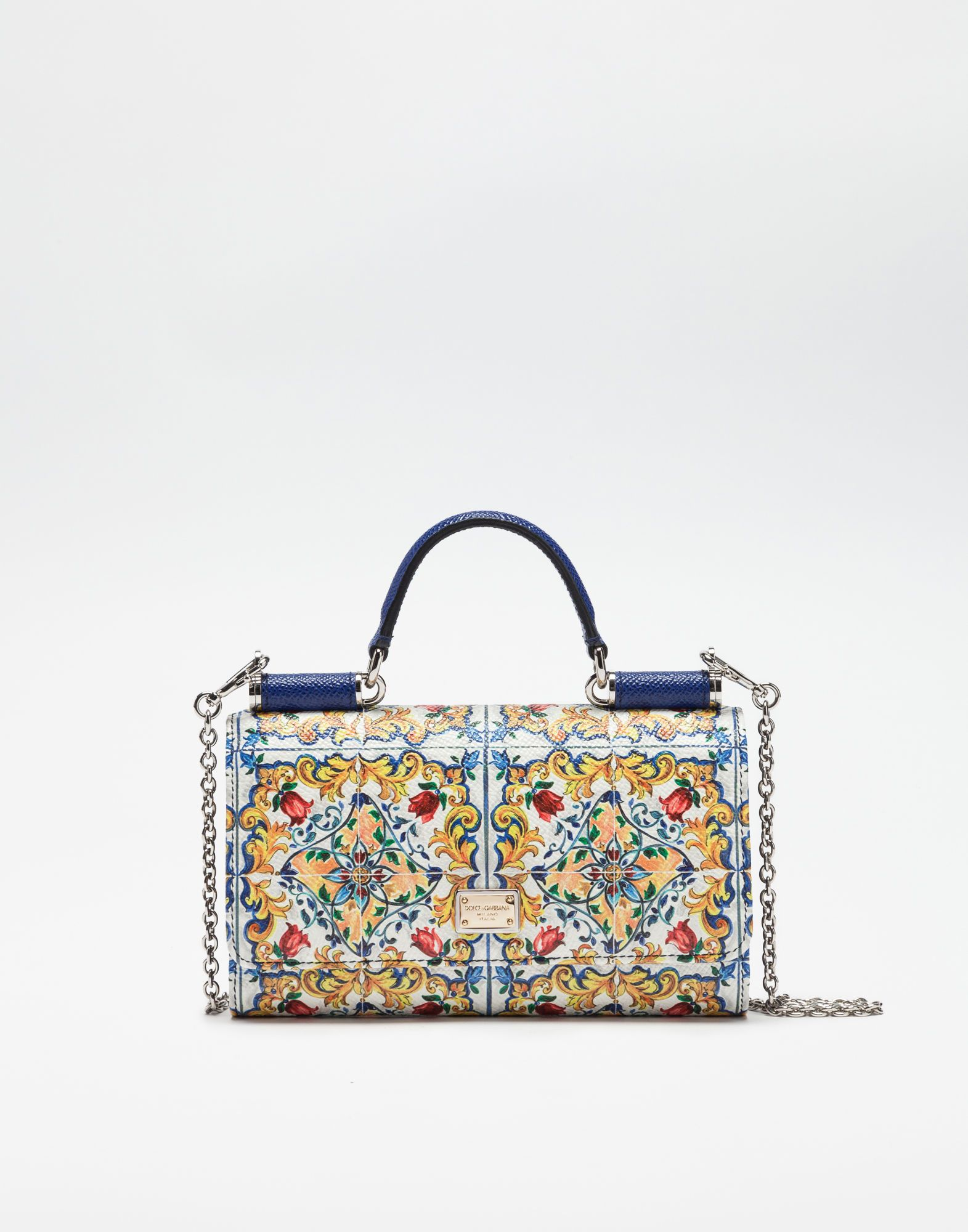 Dolce Gabbana  MINI VON BAG IN PRINTED DAUPHINE LEATHER  fa09b4eaaa422