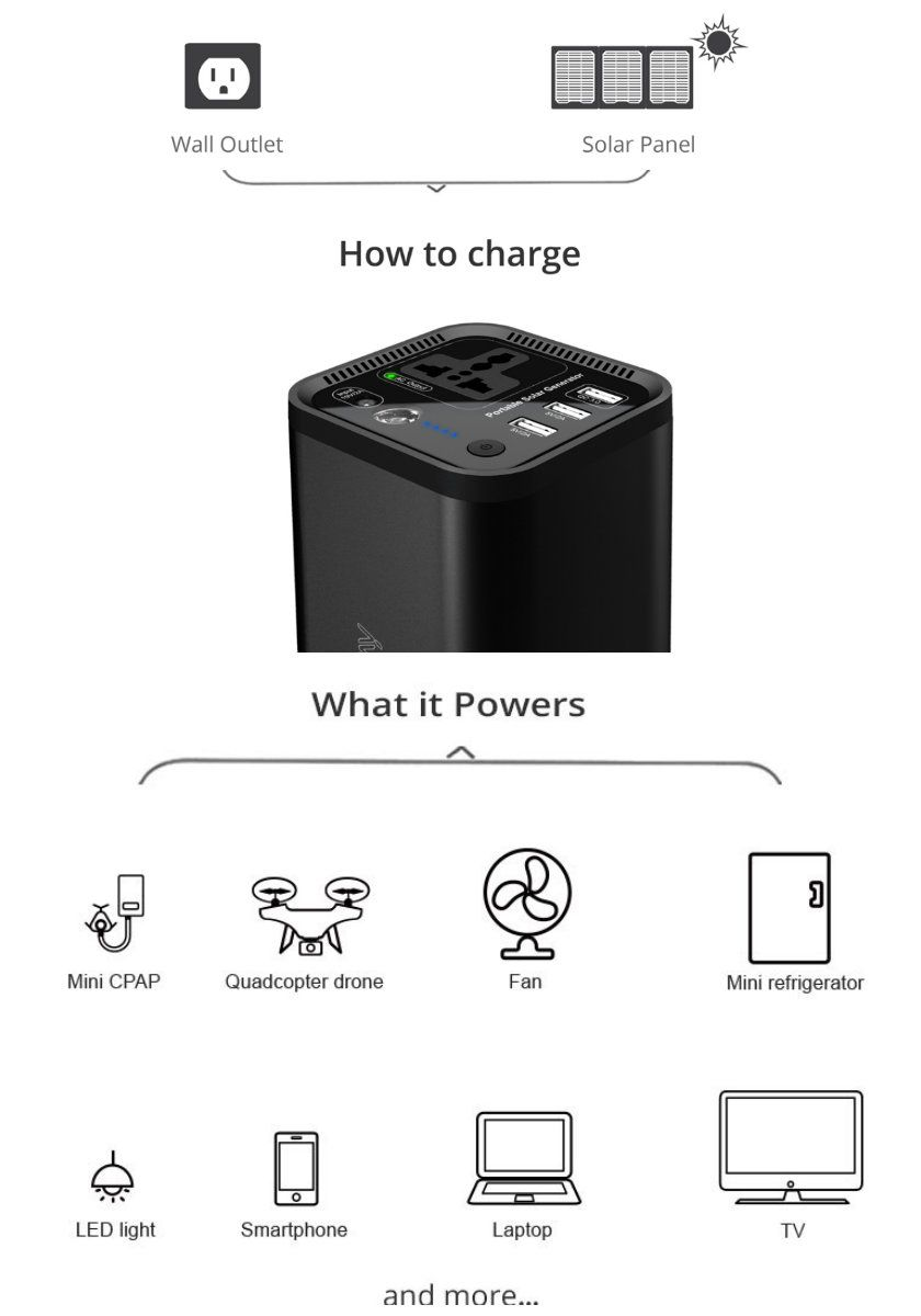 Good Backup Power Solution For Short Term Outages Solarpower Powerstation Powerhouse Powe Solar Generator Portable Solar Generator Solar Powered Generator