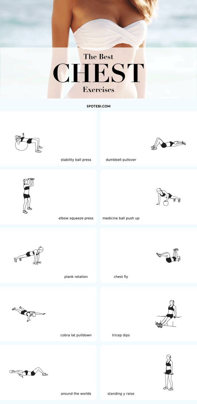 Top 10 Exercises To Lift, Firm & Perk Up Your Breasts - The best exercises to give your bust line a lift and make your breasts appear bigger and perkier, the natural way!
