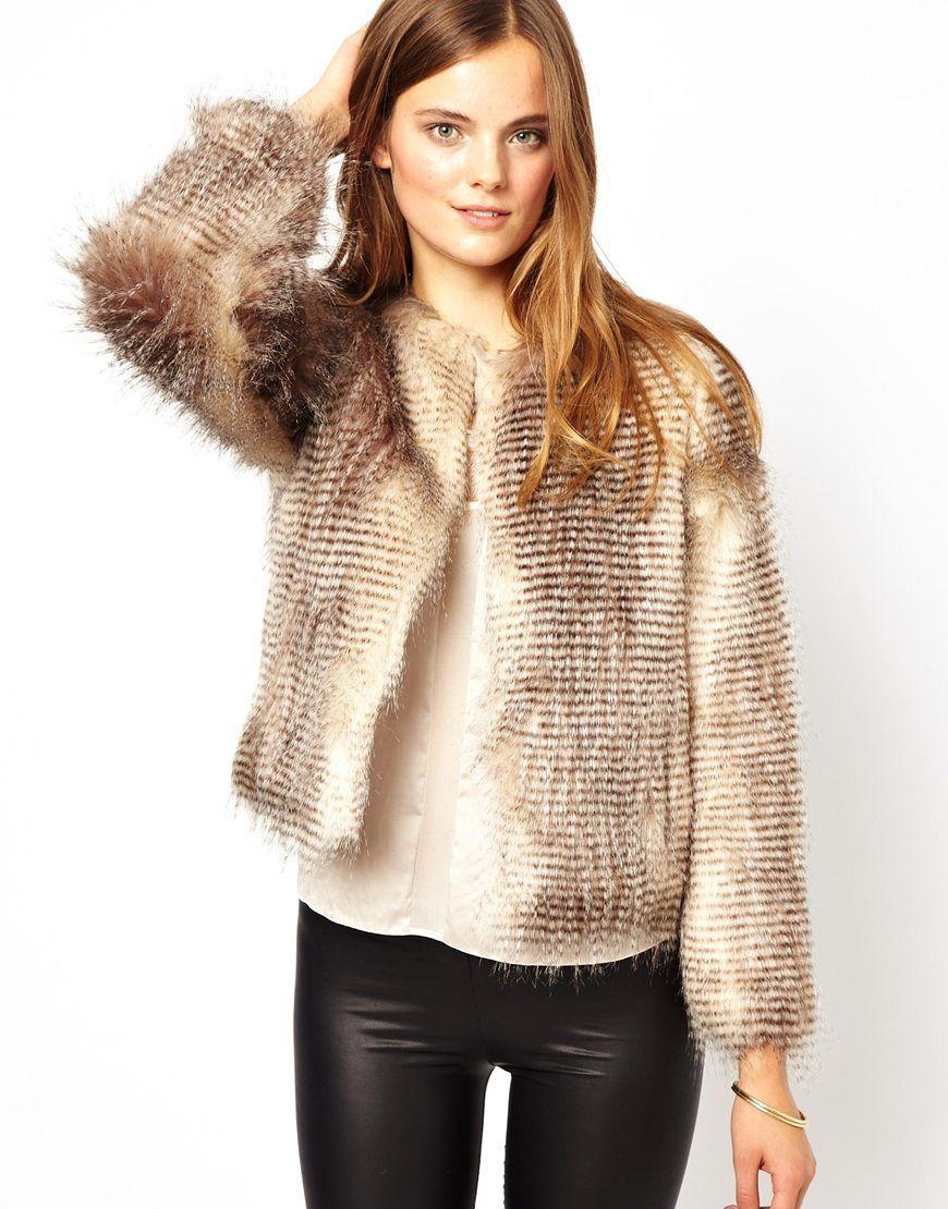 Stripe Short Jacket | Striped shorts, Fur and Shorts