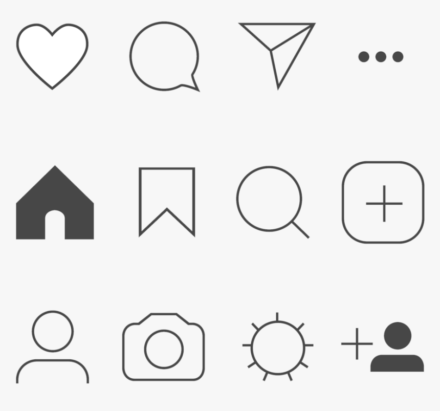 All Instagram Icons Png Transparent Png Is Free Transparent Png Image To Explore More Similar Hd Image On Pngitem Instagram Icons Doodle Png Instagram
