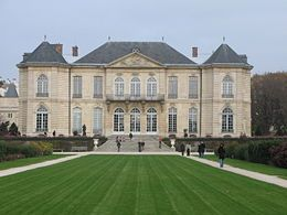 """Rodin Museum. Before: """"Visited yesterday with Cocteau, his mother and Princess Lucien Murat, the gardens of the former Sacred Heart in the Rue de Varenne. The Hotel Biron cleared, forms a whole with its two pediments, one look at the gardens, with a sculpture that represents the culmination of Flora."""" Abbé (site)"""