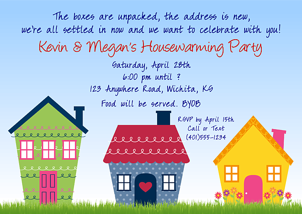 Cute Housewarming Party Invitations 100 Each Festivityfavors