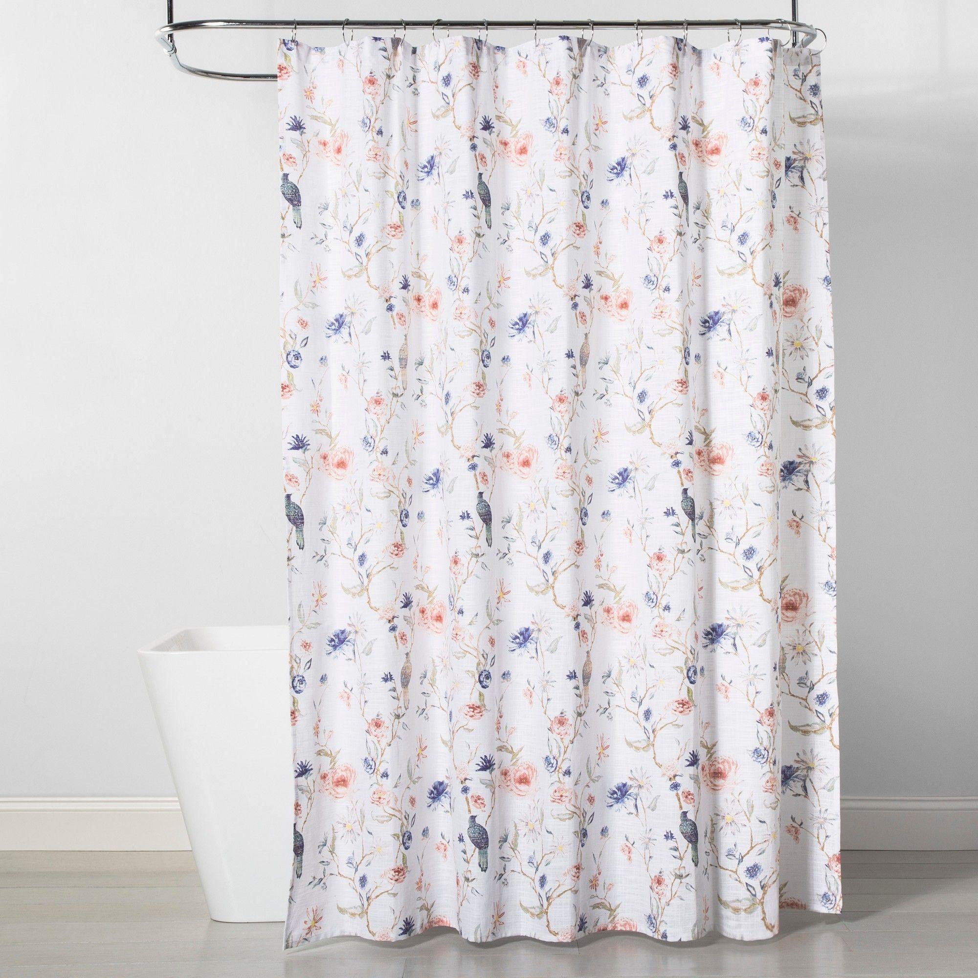 Floral Bird Shower Curtain Threshold Bird Shower Curtain
