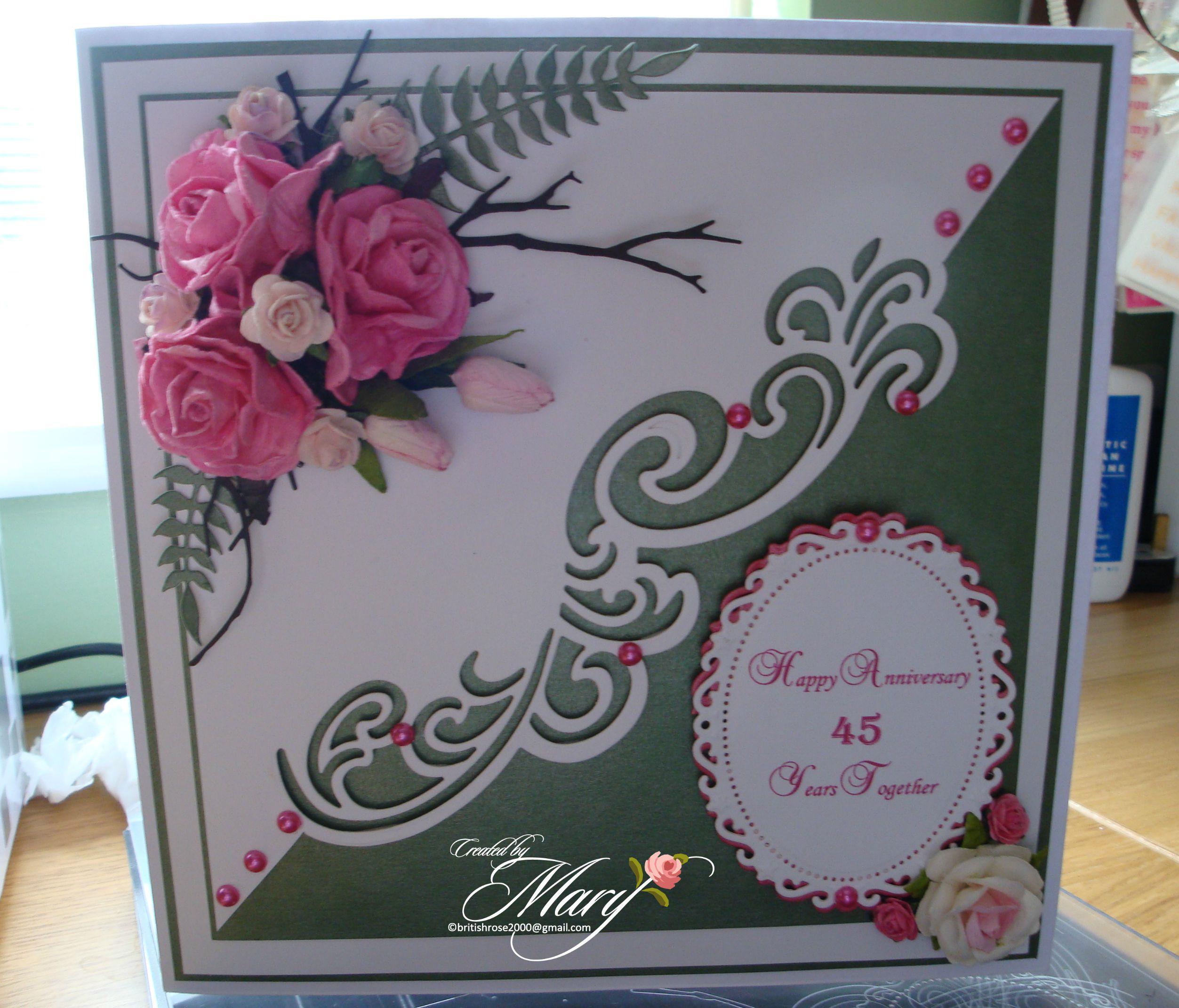 45th Wedding Anniversary card Wedding anniversary cards