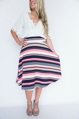 f890e8f35f Classic Striped Midi Skirt! LOVE IT!!! Agnes & Dora by Jenn Penn  Independent Rep