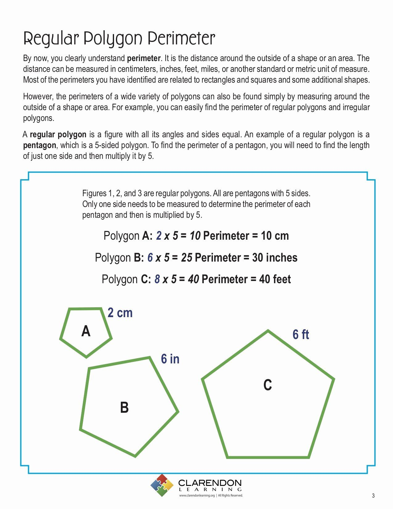 Area Of Regular Polygons Worksheet Beautiful Perimeters Of