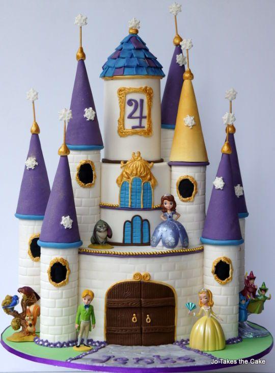 Sofia the First Castle Cake
