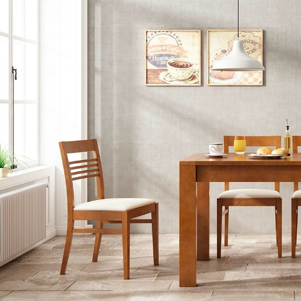 solid wood chairs Silla madera maciza colección Ocean Indufex