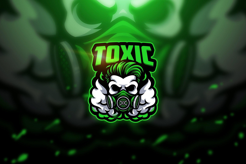 Toxic skull - Mascot & Esport Logo (com imagens) | Logotipo do jogo