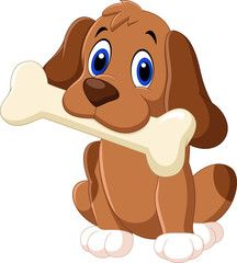 Cartoon Funny Dog With Bone Dogs Cartoon Funny Cartoons