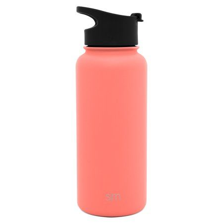 917ab292ea Simple Modern 32 oz Summit Water Bottle - Stainless Steel Hydro Metal Flask  +2 Lids - Wide Mouth Double Wall Vacuum Insulated orange Large 2 Liter Half  ...