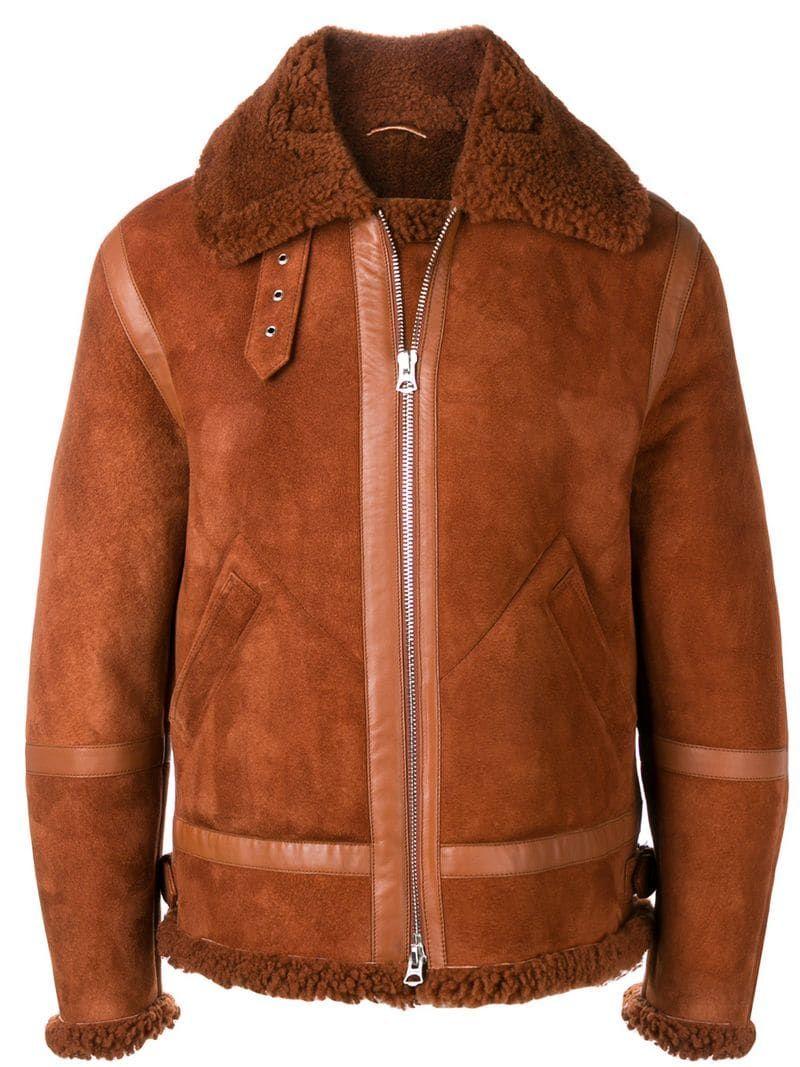 Acne Studios Ian Suede Jacket Suede jacket, Aviator