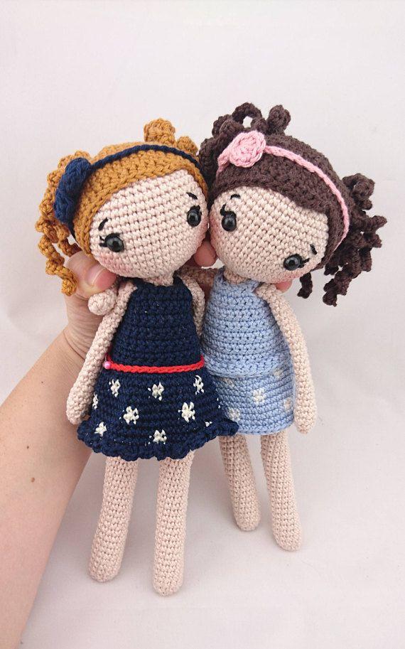 PDF ENGLISH Crochet Pattern Doll Lina Amigurumidoll leami leamigurumi #slipstitch