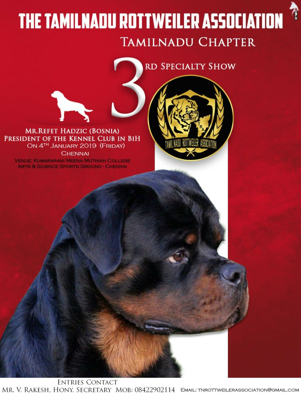 Creativebycvc Tamil Nadu Rottweiler Association New Year Kick Off The Kennel Club Science Art College Art