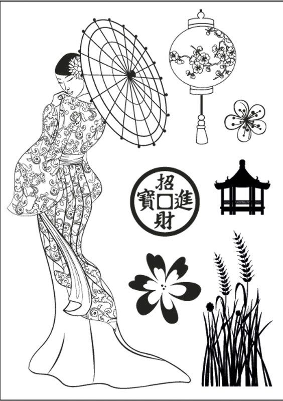 chinees | Tattoos | Pinterest | Geishas, Dibujo y Japon