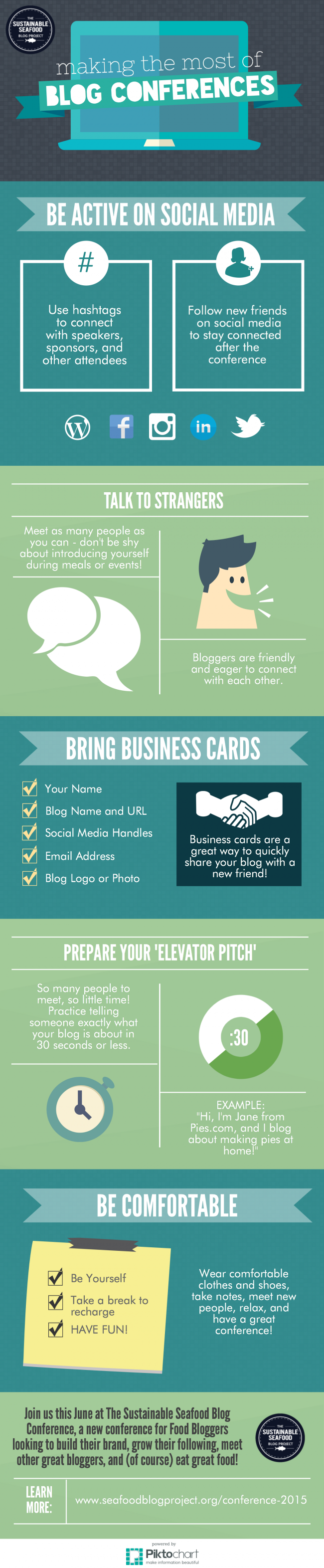 10 Tips to Make the Most Out of the Sustainable Seafood Blogging Conference #SSBC15