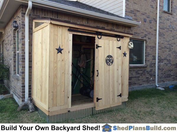 Completed 4x8 lean lean to backyard storage shed with barn for Build your own barn house