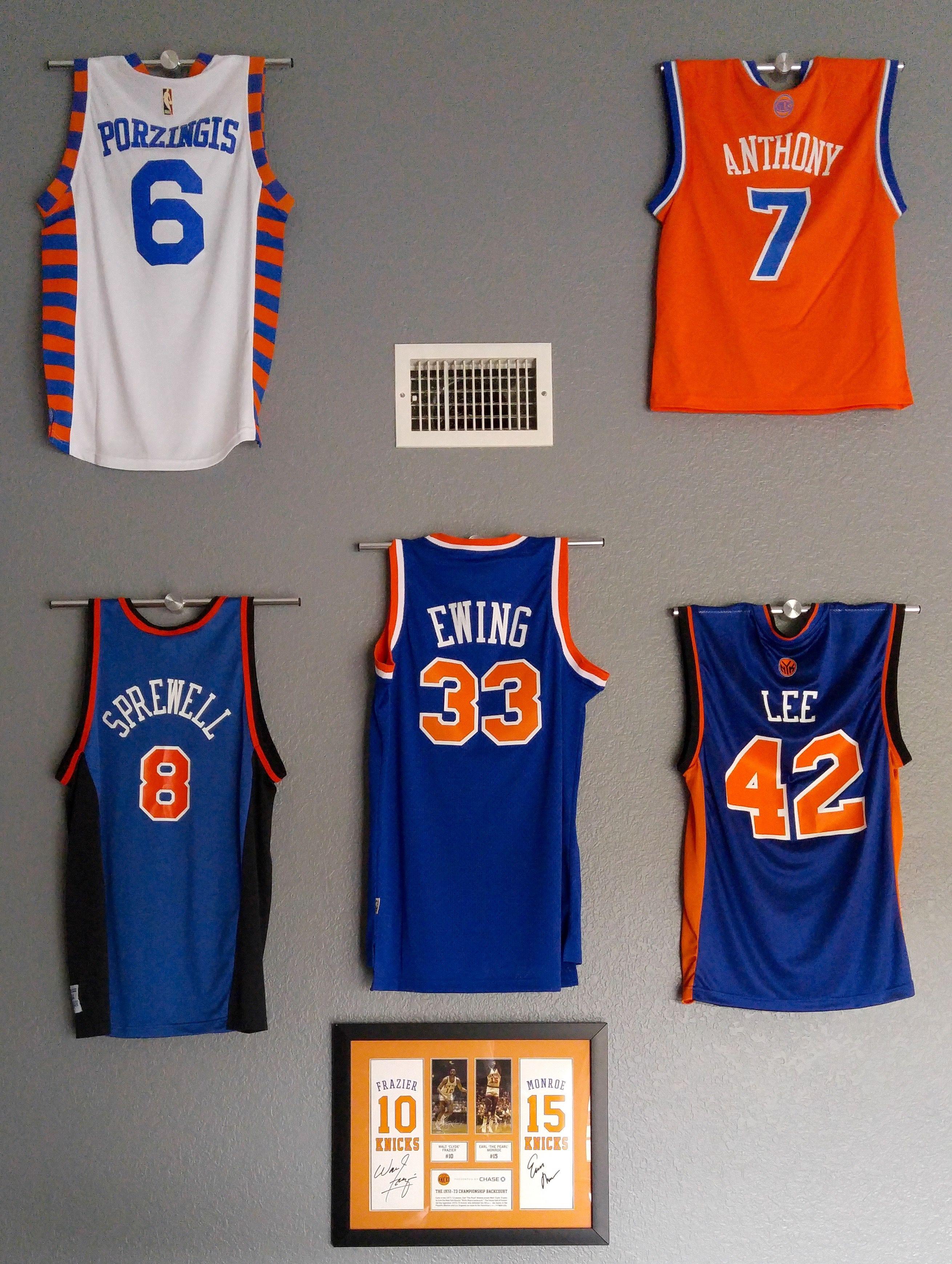 Knicks Wall of Fame | Man Cave | Pinterest | Walls, Men ...
