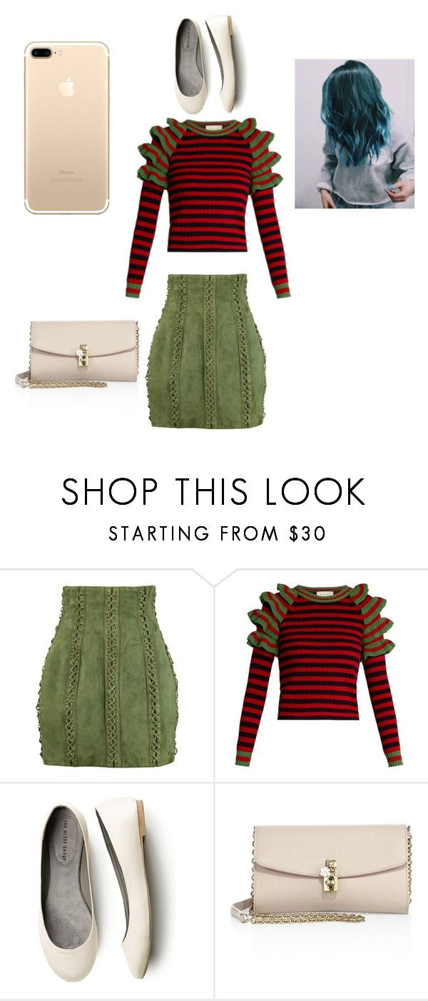 """""""Untitled #143"""" by engineeringmalak ❤ liked on Polyvore featuring Balmain, Gucci and Dolce&Gabbana"""