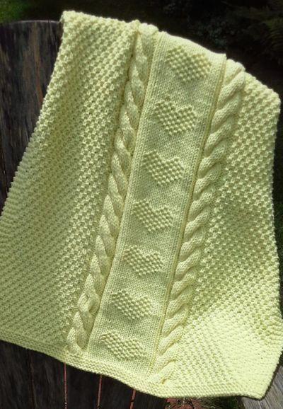 Quick Baby Blanket Knitting Patterns Decken Pinterest Knitting