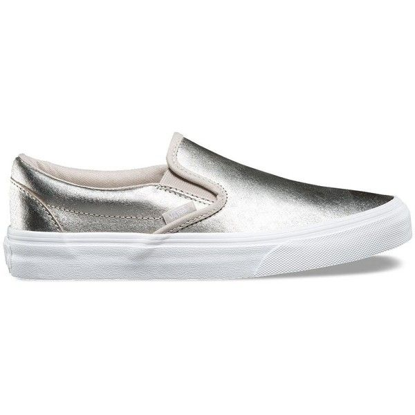 3f948b42b9 Vans Metallic Slip-On ( 60) ❤ liked on Polyvore featuring shoes ...