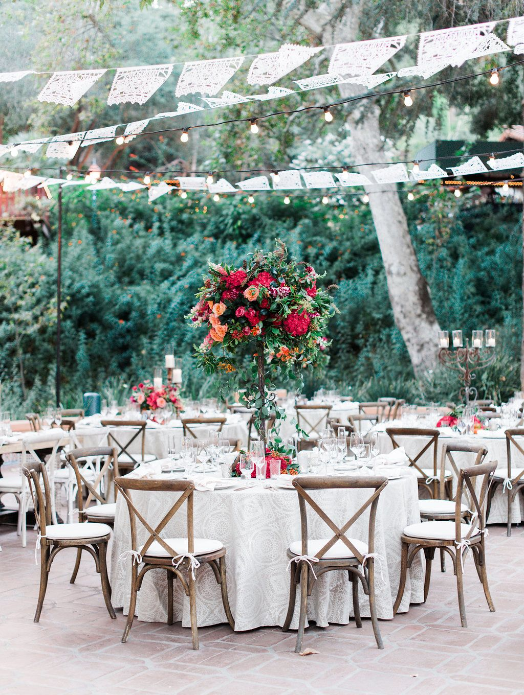 Rancho Las Lomas Featured Wedding Marina Juan Tall Centerpiece For Reception Tables Mccune