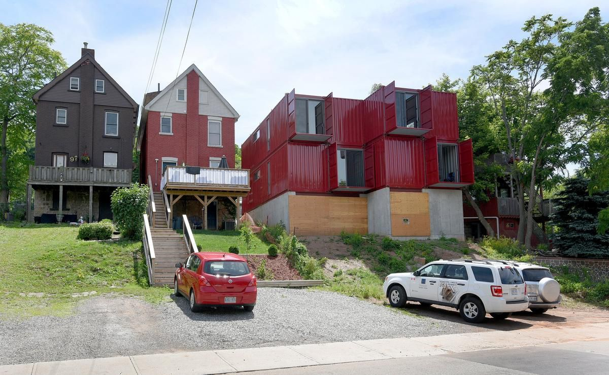 Hamilton S First Shipping Container Home Rises On Arkledun Avenue