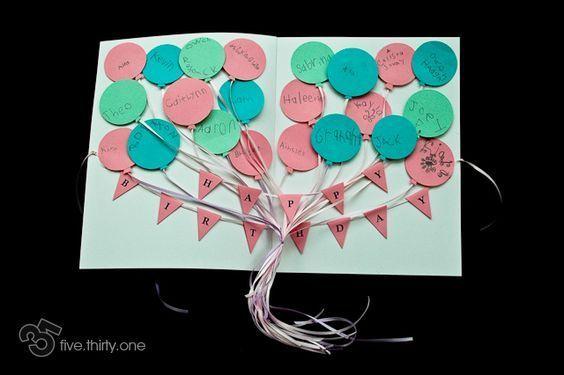 Birthday Cards For Teachers Ideas ~ Birthday card for teacher from lots of kids! birthday cards