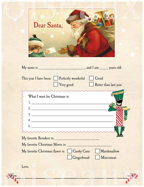A ChildS Letter To Santa Claus  A Gift For You  Free With