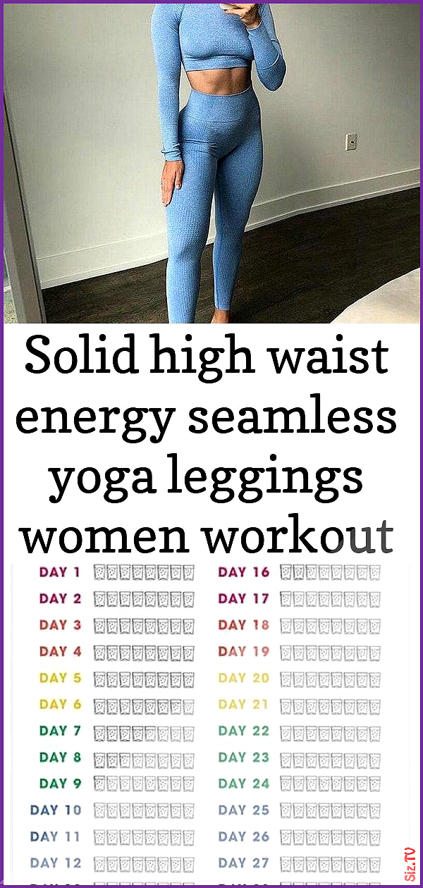 Solid high waist energy seamless yoga leggings women workout running sport pants push up hip fitness...