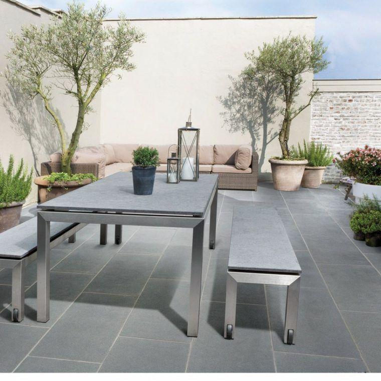 Captivant Revêtement De Sol Extérieur De Terrasse En Gris