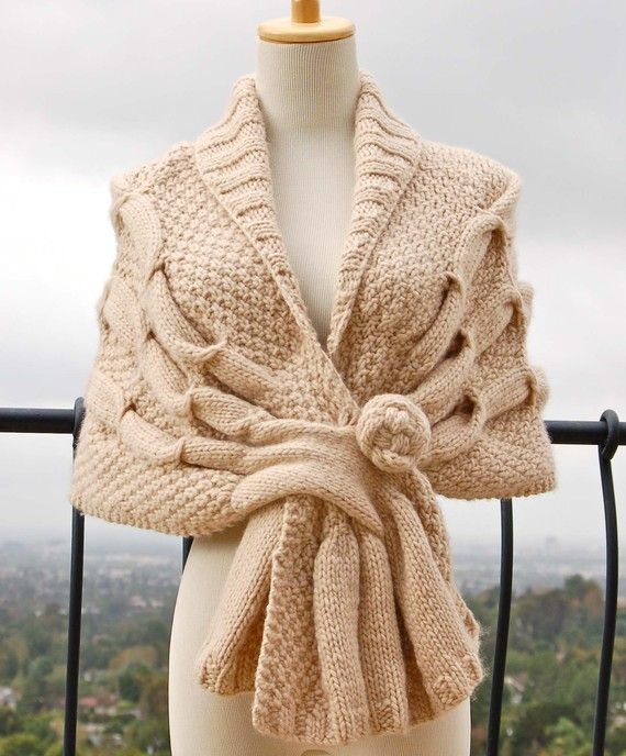 Oscillating Wrap PDF Knitting Pattern Instant Download ...