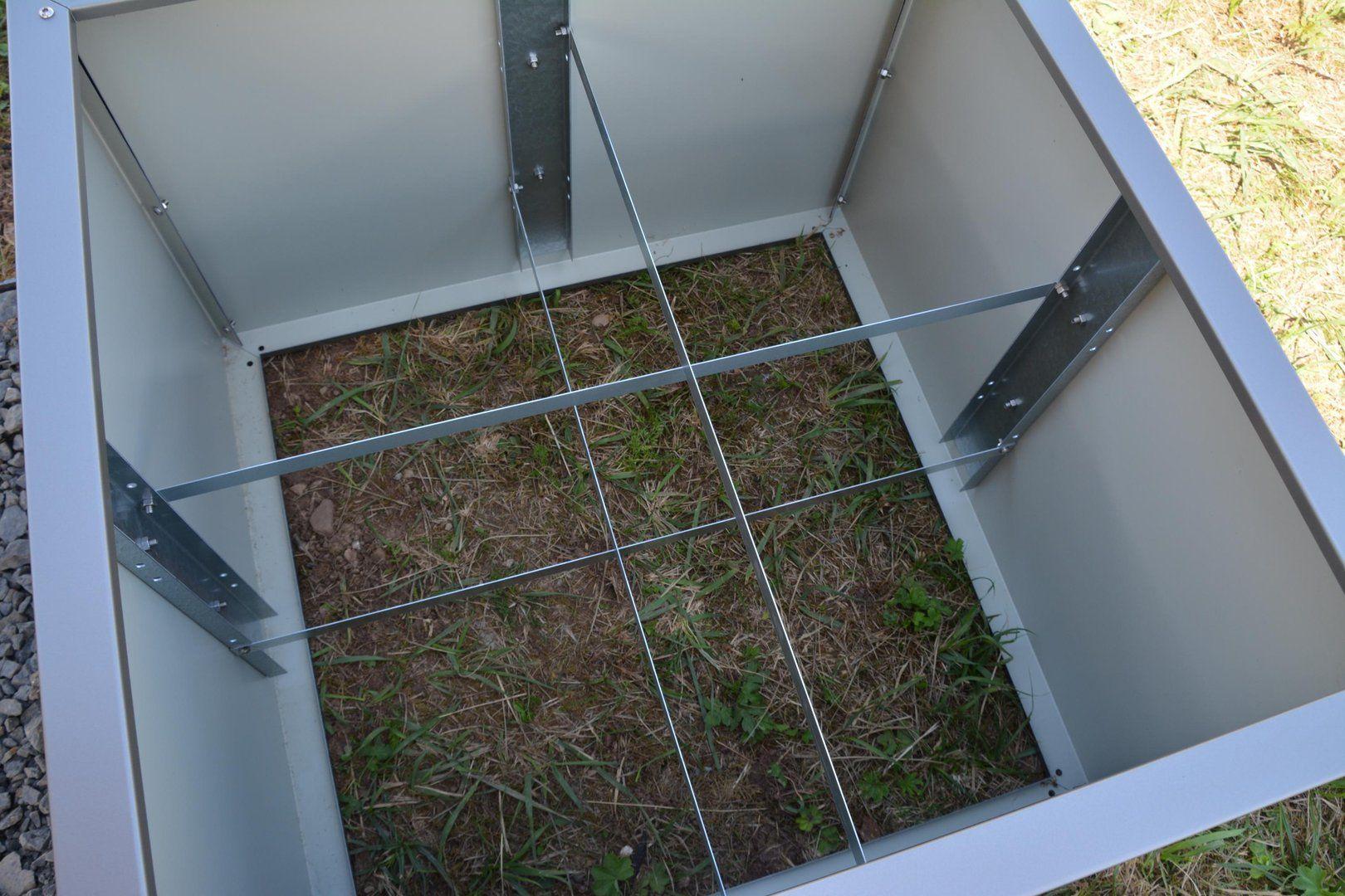 Hochbeet Urban Metall 0 55 X 0 75 M Hohe 0 5 M Lackiert In 2020 Hochbeet Gartenboden Verzinktes Blech