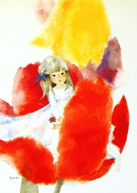 Picture Of Chihiro Iwasaki Illustration Painting Illustration