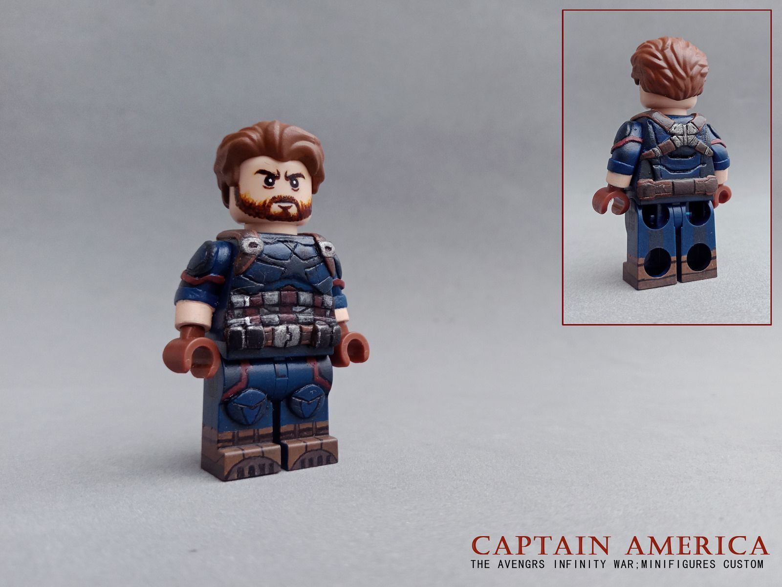 Infinity War Figure for CUSTOM Lego Minifigure Captain America Minifigures