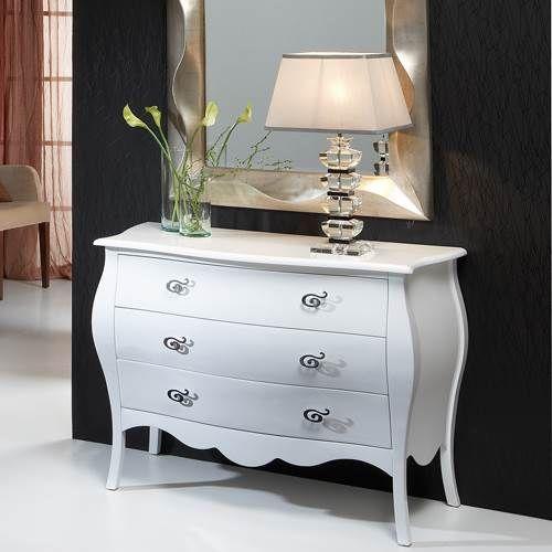 C moda panzuda de estilo vintage realizada en madera - Comodas de estilo ...